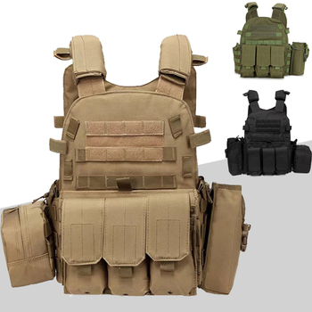 6094 Tactical Vest Molle System Hunting Body Armor Military Plate Carrier Vest Paintball Airsoft Gear Army Vest military army combat jpc plate carrier molle vest tactical outdoor hunting shooting men airsoft paintball protective body armor