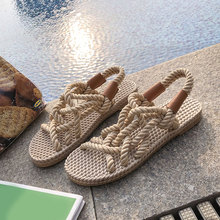 2020 Gladiator Women Sandals Fashion Ladies Hemp Comfortable