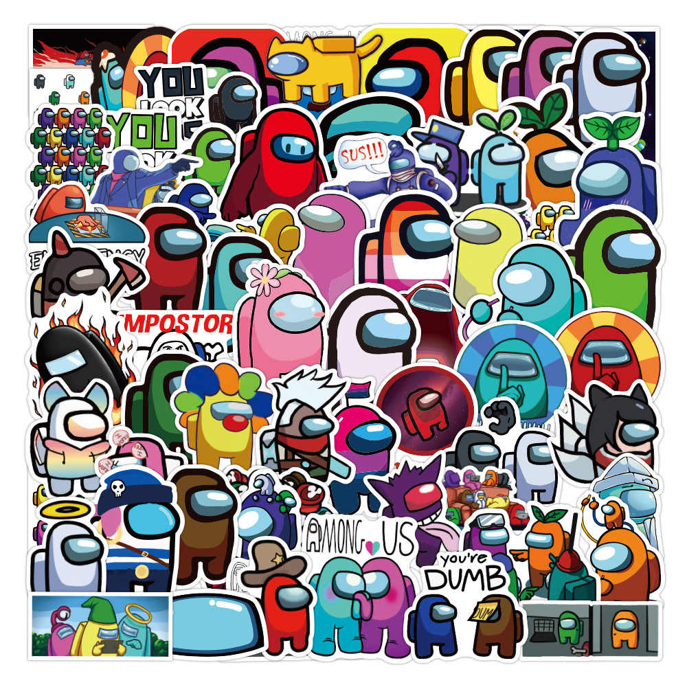 Laptop Accessories Water Bottle 100pcs Among Us Stickers Among Us 100 Vinyl Waterproof Stickers For Laptop Popular Game Sticker Decals Computers Accessories Samel Com Br