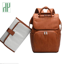 Get more info on the New Unisex Fashion Quality PU Leather Baby Diaper Bag Backpack+Changing Pad+Stroller Straps