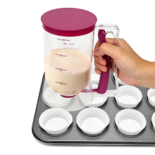 Batter Flour Paste Dispenser Cream Speratator Measuring Cup 900ml For Cupcakes Pancakes Cookie Cake Muffins Baking Tools baking tool cake dough batter cream dispenser cupcake funnel batter separator valve measuring cup muffin cups optional cake mold