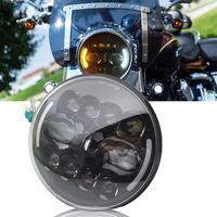 Farol de led para motocicleta 7/Polegada  farol de led para motocicleta cafe racer turismo  acessórios para carro  sinal de seta para lada 4x4 niva 1 peça