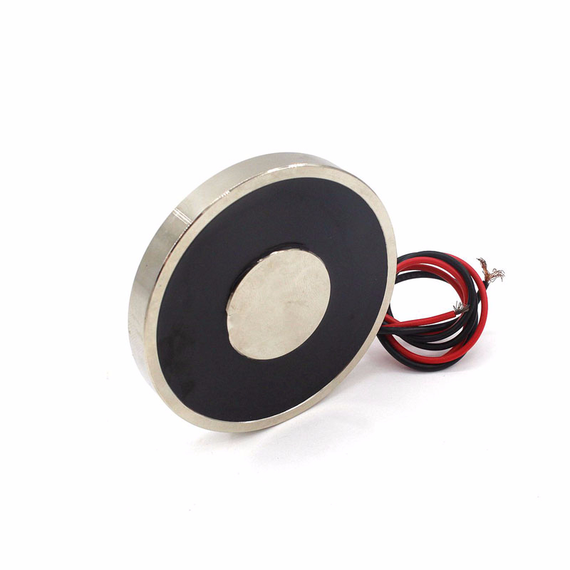 70/9 Holding Electric Sucker Electromagnet Solenoid Magnet Dc 12v 24v Suction-cup Cylindrical Lifting 30kg Suction Plate Metal