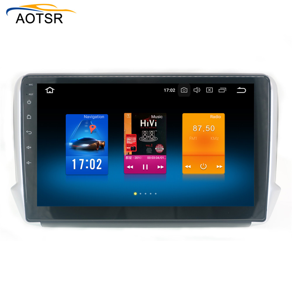 4 32G 10 2 screen Android 9 0 Car GPS Player for Peugeot 208 2008 2012