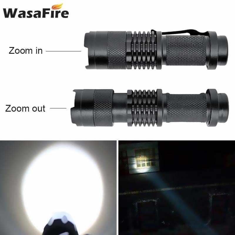 Mini Q5 el feneri 2000LM 3 modu LED el feneri lamba taşınabilir su geçirmez Zoom LED Penlight kamp yürüyüş işık
