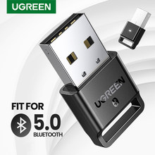 UGREEN-adaptador Dongle USB 4,0 para PC, altavoz, ratón, receptor de Audio y música, transmisor aptx, Compatible con Bluetooth 5,0