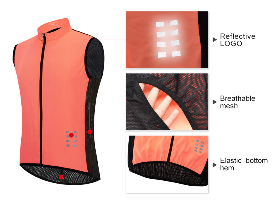 Image 2 - WOSAWE Breathable Cycling Vest Windproof Water repellent Running Vest MTB Bike Bicycle Reflective Sleeveless Cycling Jersey-in Cycling Vest from Sports & Entertainment