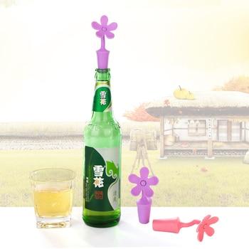 1/4PCS Silicone Red Wine Manual Press Wine Bottle Stopper Seal Wine Stopper Flower Elephant Shape Wine Stopper Wine Accessories 1