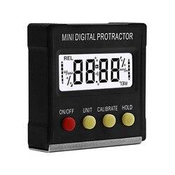 360 stopni Mini cyfrowy kątomierz inklinometr elektroniczny poziom Box podstawa magnetyczna narzędzia pomiarowe w Kątomierze od Narzędzia na