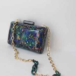 Image 2 - Новый модный аксессуар, женская сумка, винтажная яркая мраморная сумка для вечевечерние НКИ, выпускного вечера, сумка для вечеринки, роскошная женская сумка для вечеринки, Повседневная коробка, клатч, кошелек
