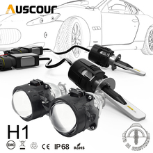 H1 B6 LED Bixenon Hid 자동차 프로젝터 렌즈 변환 키트 42W 5200LM CSP Y11 칩 모두 순수한 흰색 6000K 자동차 램프 전구 DIY
