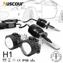 H1 B6 LED Bixenon Hid projektor samochodowy zestaw do konwersji obiektywu 42W 5200lm CSP Y11 chipy wszystko W jednym czysta biała 6000K lampa samochodowa żarówka DIY