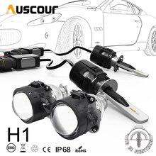 Kit de Conversion de lentille de projecteur de voiture en bixénon Hid H1 B6 LED, 42W, 6000 lm, puce CSP Y11, tout en un blanc pur, ampoule de voiture, bricolage même