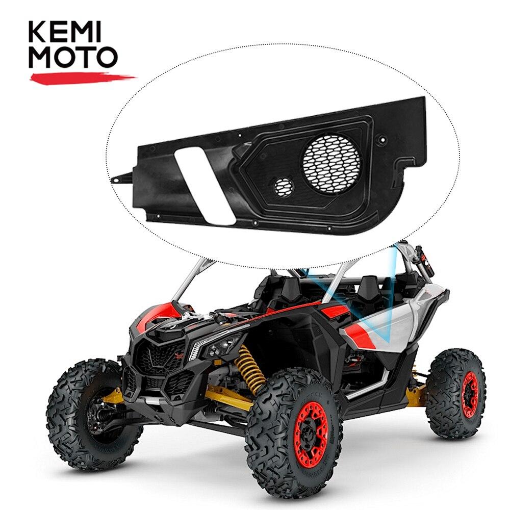 KEMIMOTO Inner Door Audio Bracket Black Door Speaker Pod Set For Can-am Maverick X3 Can Am X 3 2017-2020 2017 2018 2019 2020