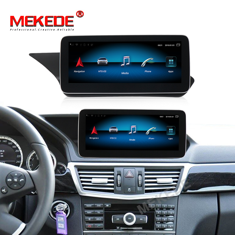 HD1920*720 IPS!4GB+64GB <font><b>android</b></font> 9.0 Car gps navigation player for Mercedes <font><b>benz</b></font> E Class <font><b>W212</b></font> 2009-2015 with 4G wifi BT carplay image