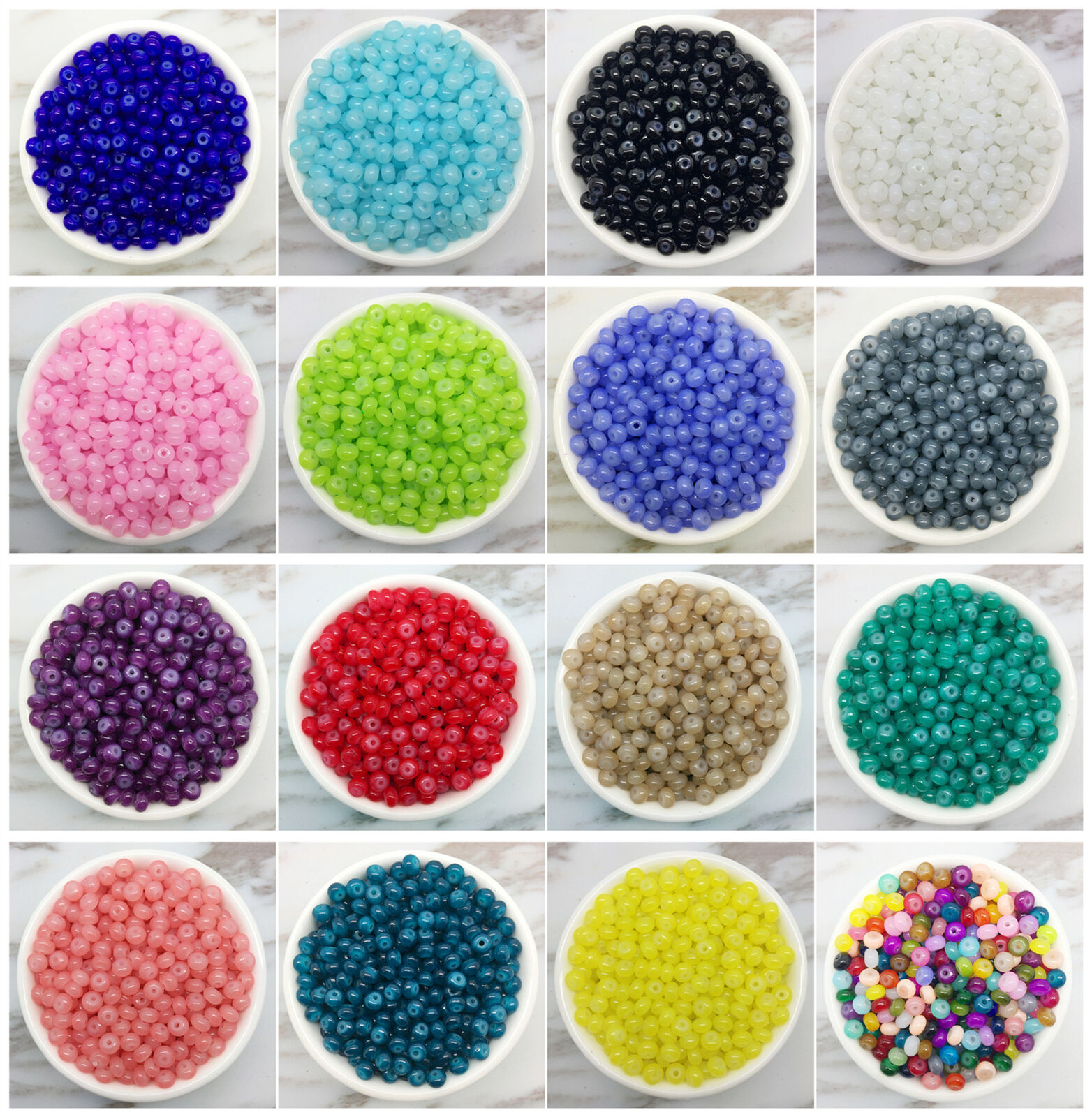 150pcs Oval Cabochon Cultured Flatback Pearls Loose Spacer Charms Beads Findings