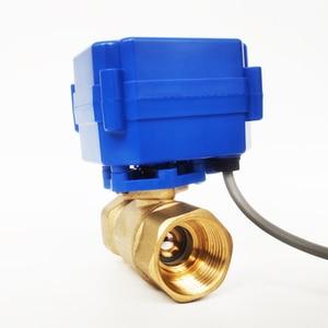 """Image 4 - 3/4 """"صمام تشغيل كهربائي نحاسي ، DC12V صمام موروتيزد 3 سلك (CR02) التحكم ، DN20 صمام كهربائي لفائف مروحة"""