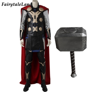 Image 1 - Vengadores: La era de Ultrón Cosplay de Thor disfraz de superhéroe de Halloween traje para hombres adultos Thor Odinson martillo traje botas
