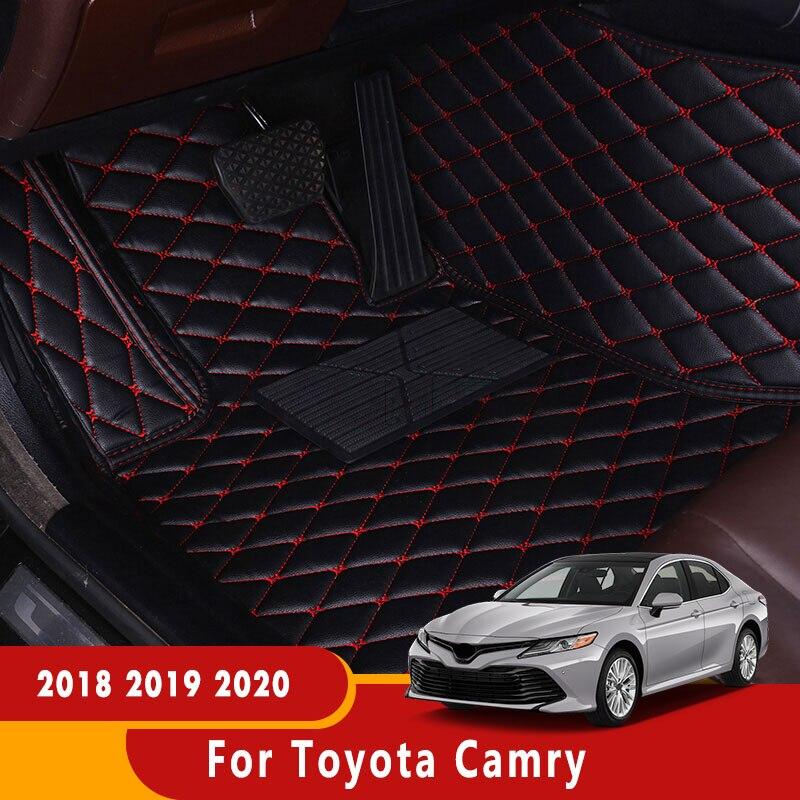 Imperméable à l'eau Anti-sale tapis Auto Design classique voiture intérieur LHD voiture tapis de sol pour Toyota Camry 2018 2019 2020