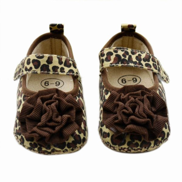 Toddler Baby Girls Leopard Print Soft Crib Shoes Cotton Sneaker