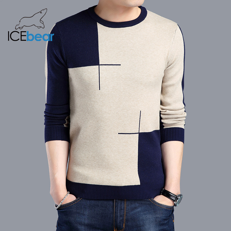 ICEbear 2019 New Autumn Men's Sweater Casual Men's Pullover Brand Apparel 1715