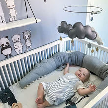 185cm Newborn Baby Bed Bumper Children Crocodile Pillow Bumper Infant Crib Fence Cotton Cushion Kids Room Bedding Decoration(China)
