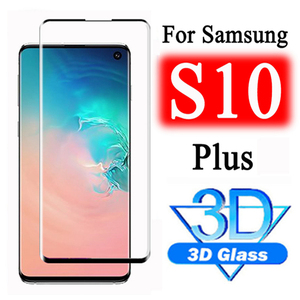 Tempered Glass For Samsung S10 Plus S9 S8 S10e Protective Glas Screen Protector On For Galaxy Note 10 Pro 8 9 S10Plus 10 Note10(China)