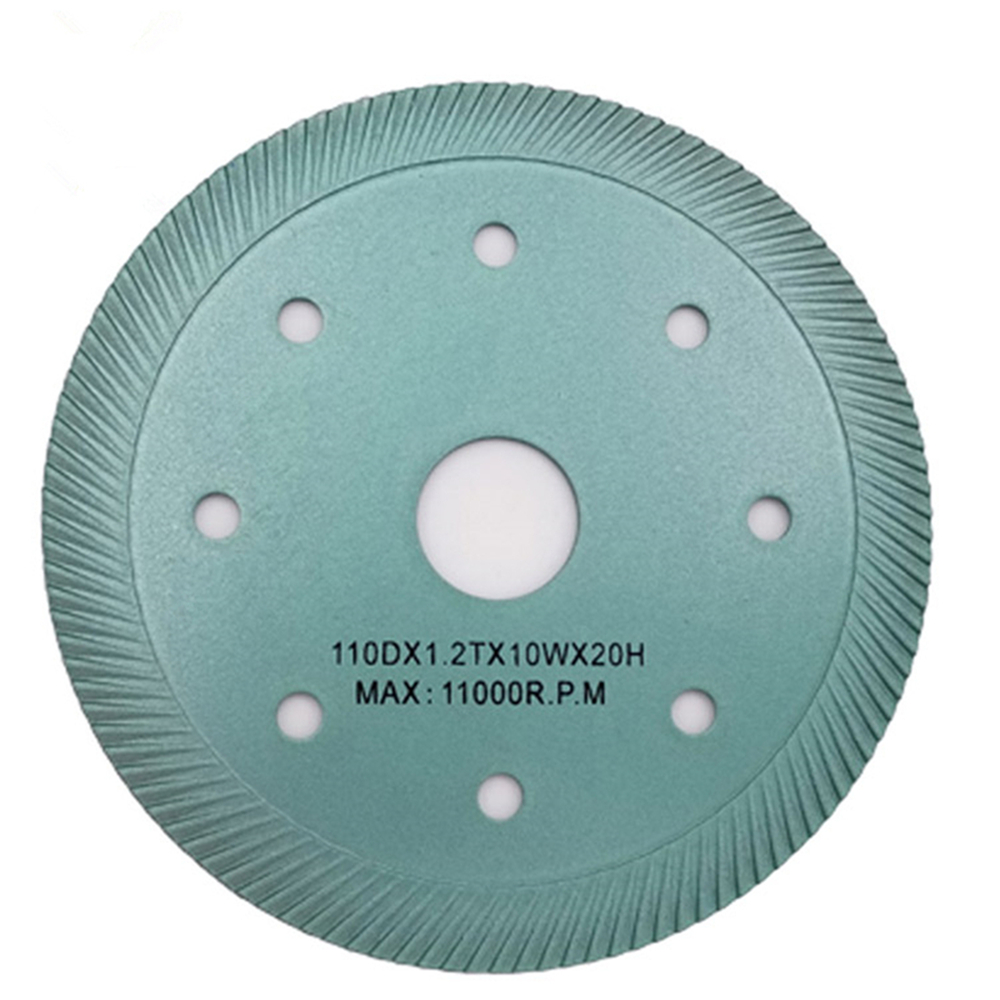 DB42 Hot Press Super Thin Turbo Diamond Circular Saw Blade 4.3 I Nch 4.5 Inch Sintered Turbo Cutting Diamond Tile Disc 10PCS
