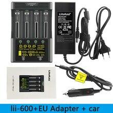 Liitokala Lii-600 carregador de bateria para li-ion 3.7v e bateria nimh 1.2v adequado para 18650 26650 21700 26700 aa + 12v5a adaptador