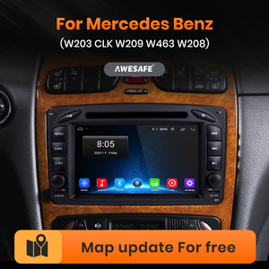 AWESAFE PX9 for Mercedes Benz W203 CLK W209 W463 W208 Car Radio Multimedia video player GPS No 2din 2 din Android 10.0 2GB+32GB