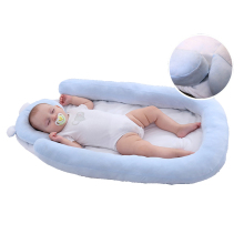 Baby Bassinet Portable Ultra Soft Infant Lounger Bed Mattress with Removable Pillow for Sleeping Napping
