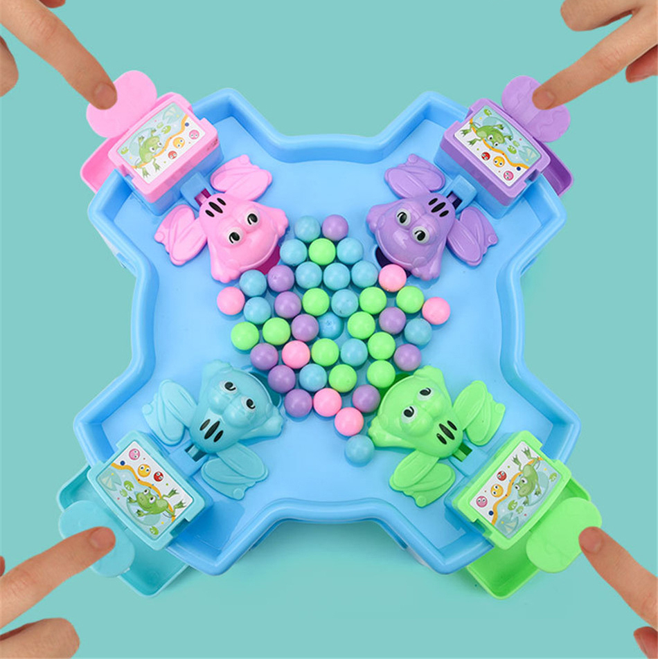 2020 Creative Desktop Interactive Game Funny Hungry Frogs Educational Toy Beads Feeding Toy Kid Gift Puzzle Parent-Child Game