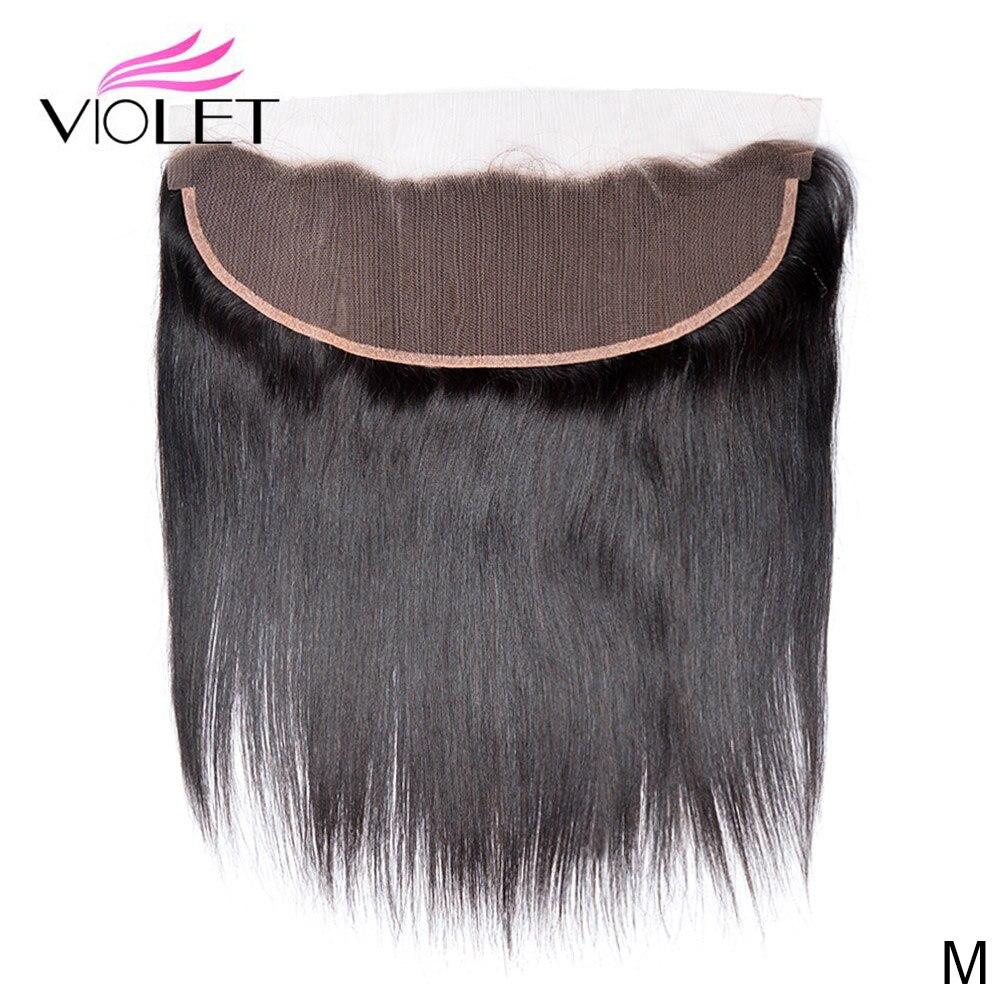VIOLET Peruvian Straight 13x4 Lace Frontal Medium Ratio 10