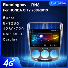 Android 10.1 For HONDA CITY 2006 2007 2008 2009 2010 2011 2012 Multimedia Stereo Car DVD Player Navigation GPS Radio