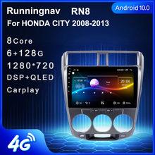 Autoradio Android 10.1, Navigation GPS, lecteur DVD, stéréo, pour voiture HONDA CITY (2006, 2007, 2008, 2009, 2010, 2011, 2012)