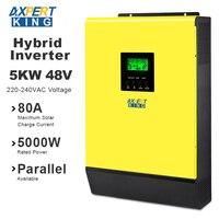 Hybrid Solar inverter 5000W 48V 220V High PV Input 450Vdc MPPT Solar Charger 80A Battery Charger Grid Tied Inverter