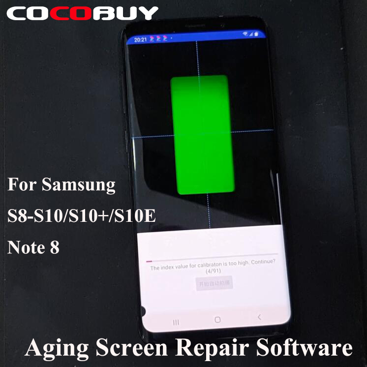 Aging Screen Repair Software For Samsung Galaxy S8 S8+ S9 S9 Plus S10 S10+ Note8 LCD Display Shadow Color Darkening Repairing