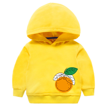 Sweatshirts Boy Girls Kids Children Hoodies Autumn Print Cotton Tops Clothes Clothing Teenage Spring Yellow
