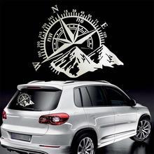 1 шт. 3D высокое качество смешные автомобильные Стикеры компаса ориентироваться горный 4x4 внедорожный винил Стикеры наклейка автомобильная переводная наклейка