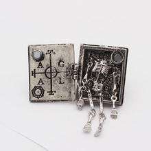 Gothic Ring Bible-Book Jewelry Steampunk Skeleton Can-Be-Opened Boutique Retro Fashion