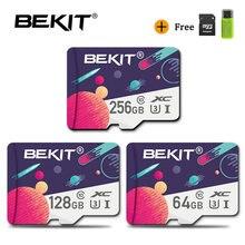 Bekit Mini TF/tarjeta SD 256GB 128GB 64GB 32GB 16GB 8GB Class10 U1 U3 Original tarjeta Flash cartao de memoria para teléfono