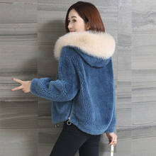 Faux Fur Coat Women Clothes 2020 Autumn Winter Fake Fur Jacket Hooded Korean Plus Size Coats Fourrure Femme KJ3604(China)
