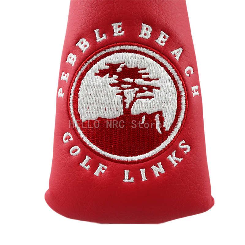 Головные уборы для гольф-клуба, чехол из искусственной кожи с лезвием, водонепроницаемый, с застежкой-липучкой, простой и прочный