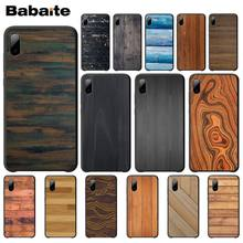 Babaite Wood Grain Silicone Case For Iphone 5s Se 6 6s 7 8 Plus X Xs Max Xr 11 Pro Max Mobile Phone Accessories wood floral soft silicone edge mobile phone cases for apple iphone x 5s se 6 6s plus 7 7plus 8 8plus xr xs max case