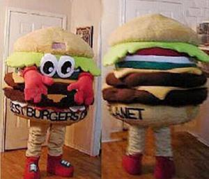 Hamburger Mascot Costume Suits Cosplay Party Game Dress Outfits Advertising Promotion Carnival Halloween Xmas Easter Adults(China)