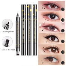 Eyeliner-Pen Makeup Star Pencil Liquid Heart-Flower Double-Head Black Waterproof Moon