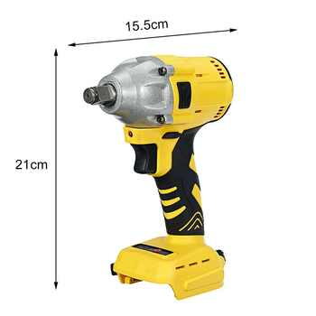 18V Electric Brushless Impact Wrench Rechargeable 1/2 Socket Cordless Wrench Power Tool For Makita Battery Drill Power Tools