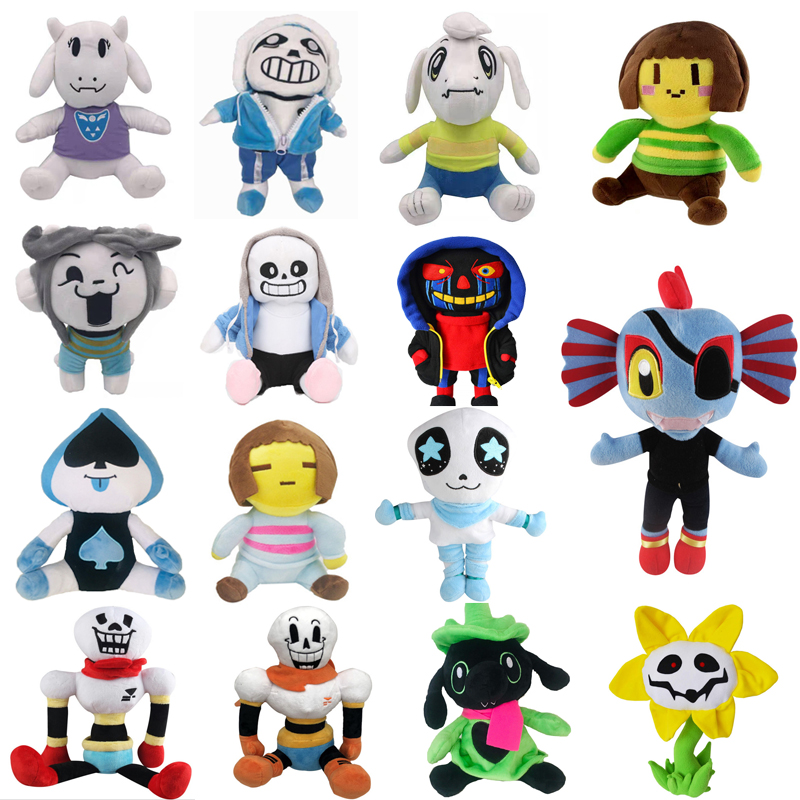 15 Styles Undertale peluche poupée Sans Frisk Chara Asriel Lancer Temmie Toriel jouets en peluche anniversaire pour enfants enfants cadeaux