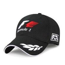 Outdoor Sports F1 Racing Men's Baseball Cap Fashion Letter Print Embroidery Baseball Caps Long Visor Brim Shade Snapback Sun Hat