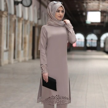 turkey muslim dress women long top hollow solid islamic clothing hijab dresses moroccan kaftan jilbab party vestidos abaya 2020